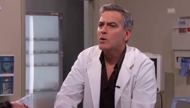 Video «George Clooney als rappender Arzt» abspielen