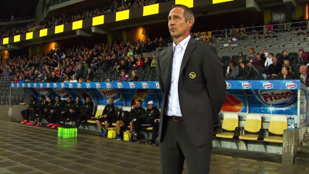 Video «Fussball: Super League, YB-Trainer Adi Hütter» abspielen