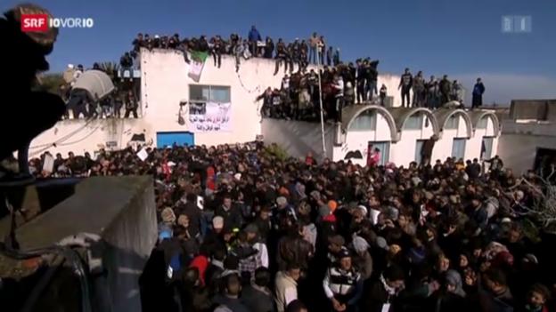 Video «Generalstreik und Massendemo in Tunesien» abspielen
