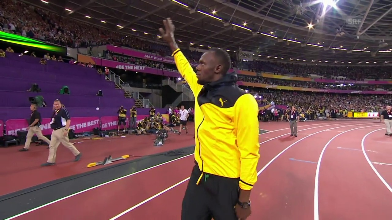 Bolt nimmt Abschied von der Leichtathletik-Bühne