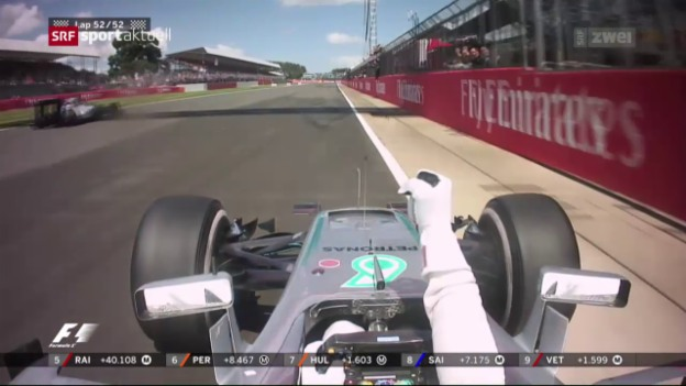 Video «Hamilton in Silverstone unantastbar» abspielen