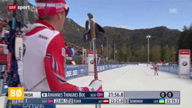 Video «Kein Schweizer Tag in den Biathlon-Sprints in Ruhpolding» abspielen