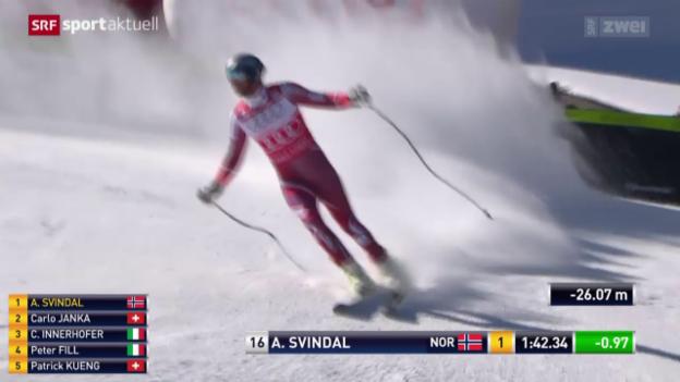 Video «Ski: Abfahrt Männer in Beaver Creek» abspielen