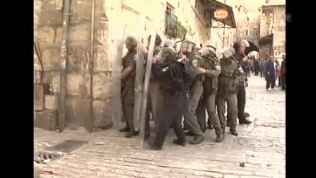 Video «Ausschreitungen in Jerusalem» abspielen