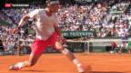 Video «Stanislas Wawrinka ohne Chance gegen Rafael Nadal» abspielen