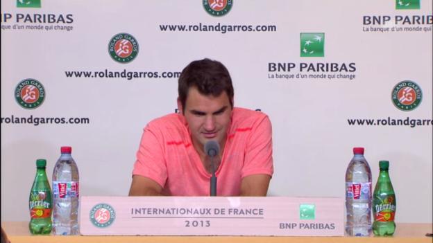 Video «Ausschnitte aus der Medienkonferenz mit Federer» abspielen