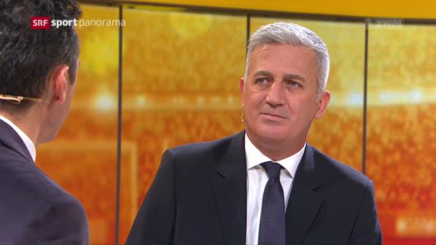 Video «Fussball: Studiogast Vladimir Petkovic, Gespräch Teil 1» abspielen