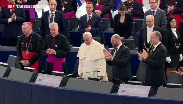 Video «Papst appelliert an Europas Politiker» abspielen