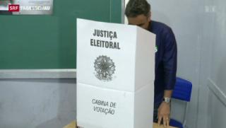 Video «Stichwahl in Brasilien um Präsidentschaft» abspielen