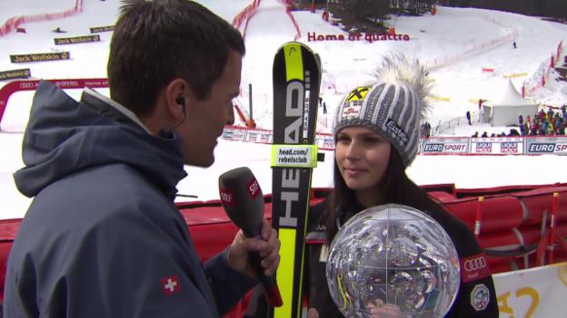 Video «Ski Alpin: Riesenslalom Méribel, Interview mit Anna Fenninger» abspielen