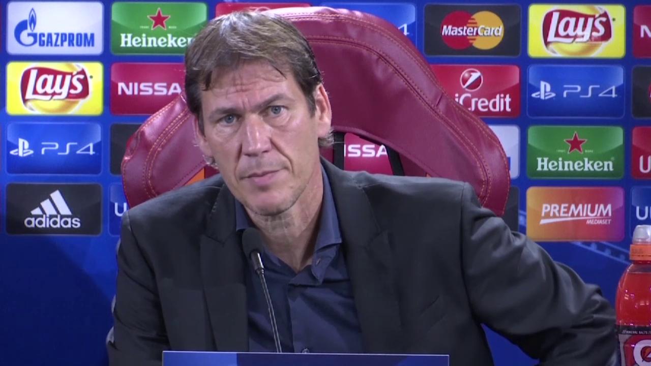 Fussball: Champions League, Roma-Trainer Garcia über Gegner Barcelona (SNTV, italienisch)