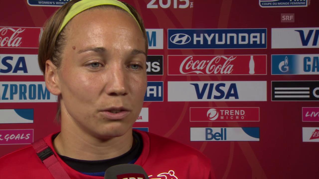 Fussball: Frauen-WM, Interview mit Gaelle Thalmann