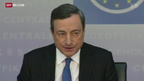 Video «EZB beschliesst Zinssenkung – erstmals Strafzinsen » abspielen