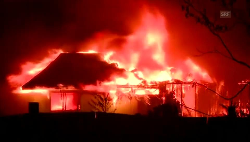Kampf gegen die Flammen in Kalifornien