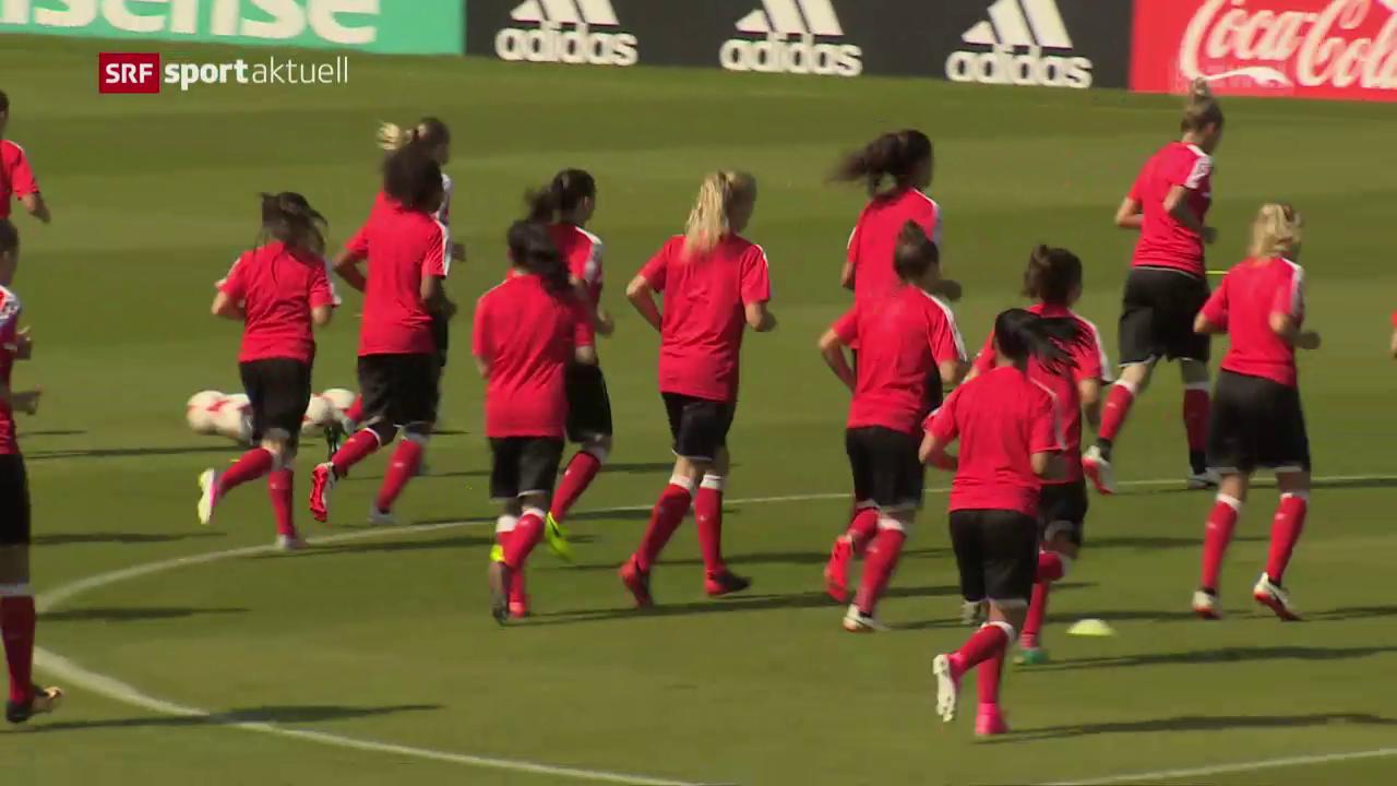Die Schweizerinnen vor dem EM-Auftakt gegen Österreich