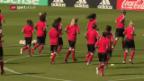 Video «Die Schweizerinnen vor dem EM-Auftakt gegen Österreich» abspielen