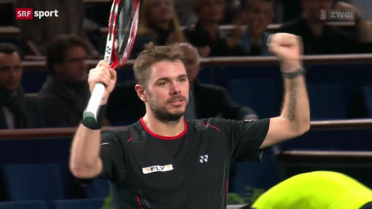 Tennis: ATP-Turnier in Paris-Bércy, Wawrinka - Almagro