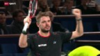Video «Tennis: ATP-Turnier in Paris-Bércy, Wawrinka - Almagro» abspielen
