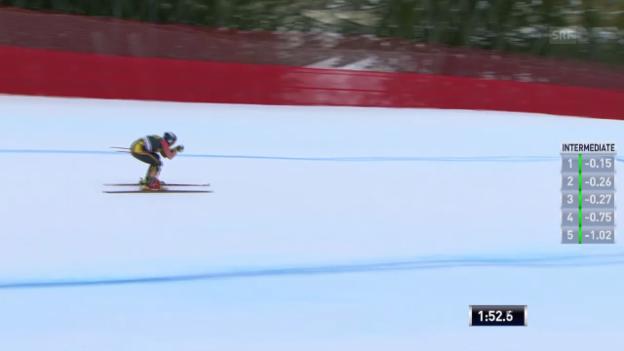 Video «Ski: Abfahrt Männer Val Gardena, 2. Training, Erik Guay» abspielen
