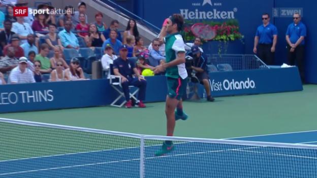 Video «Tennis: Federers Start an den US Open» abspielen