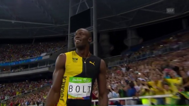 Video «Usain Bolt führt Jamaika zum Staffel-Gold» abspielen