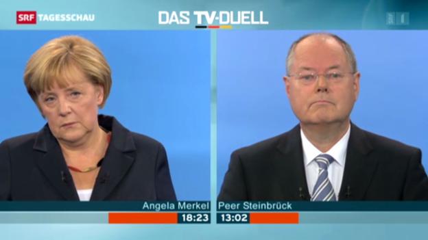 Video «Das deutsche TV-Duell» abspielen