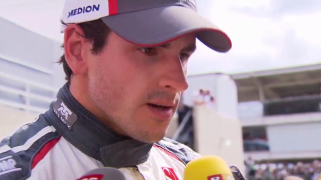 Video «F1: Sauber-Pilot Sutil zu den Problemen vor dem Start» abspielen