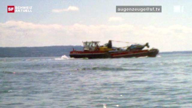 «Schweiz aktuell» 30.7.2010: Hauptverdächtiger im Bieler Bootsunfall begrüsst Untersuchung