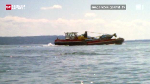 Video ««Schweiz aktuell» 30.7.2010: Hauptverdächtiger im Bieler Bootsunfall begrüsst Untersuchung» abspielen