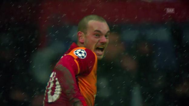 Video «Fussball: Wesley Sneijder führt Galatasaray zum Erfolg» abspielen