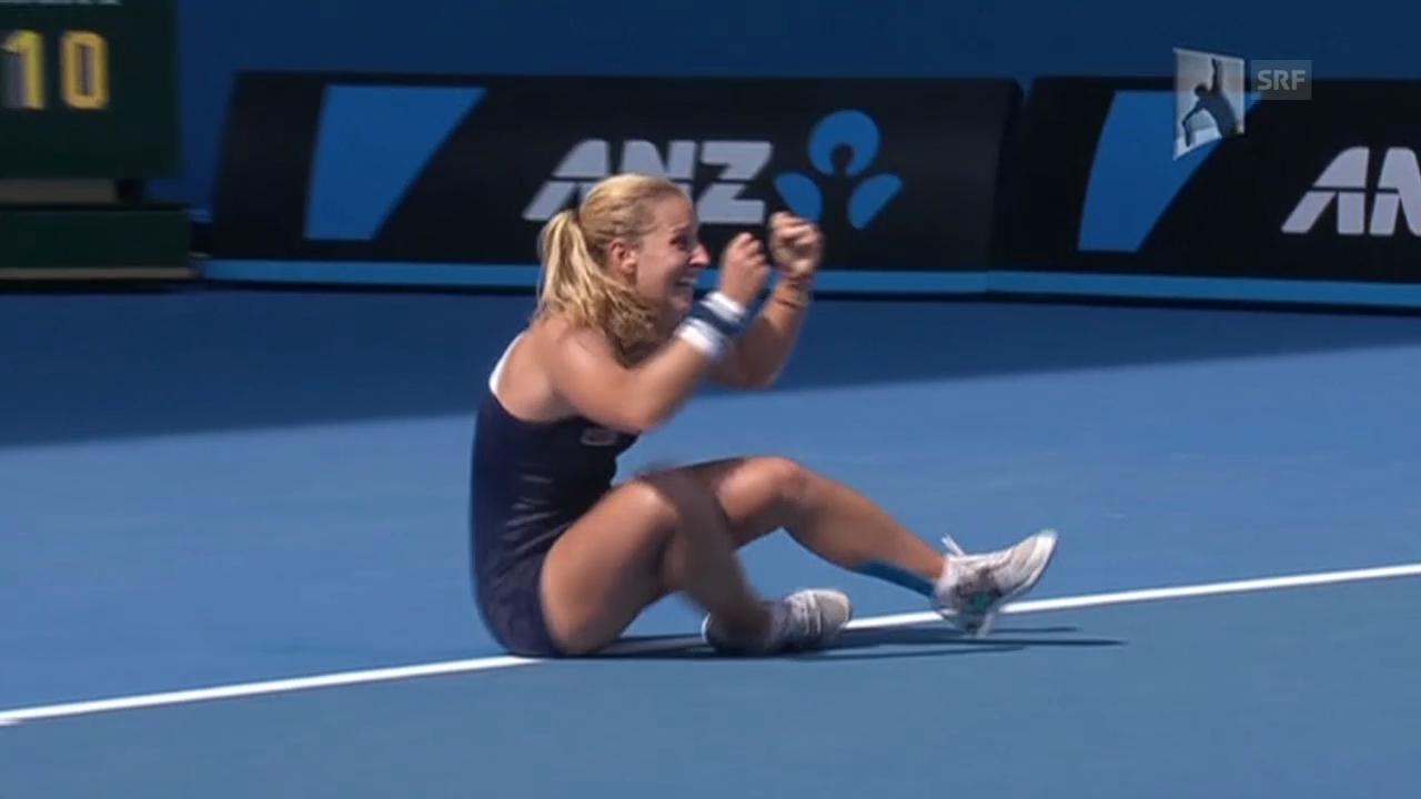 Tennis: Australian Open, Highlights Cibulkova - Radwanska