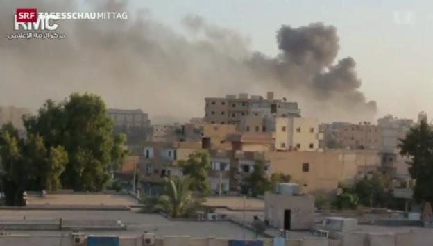 Video «Syrischer Flughafen unter Kontrolle des IS» abspielen