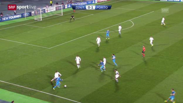 Video «Fussball: Zenit St. Petersburg - Porto» abspielen