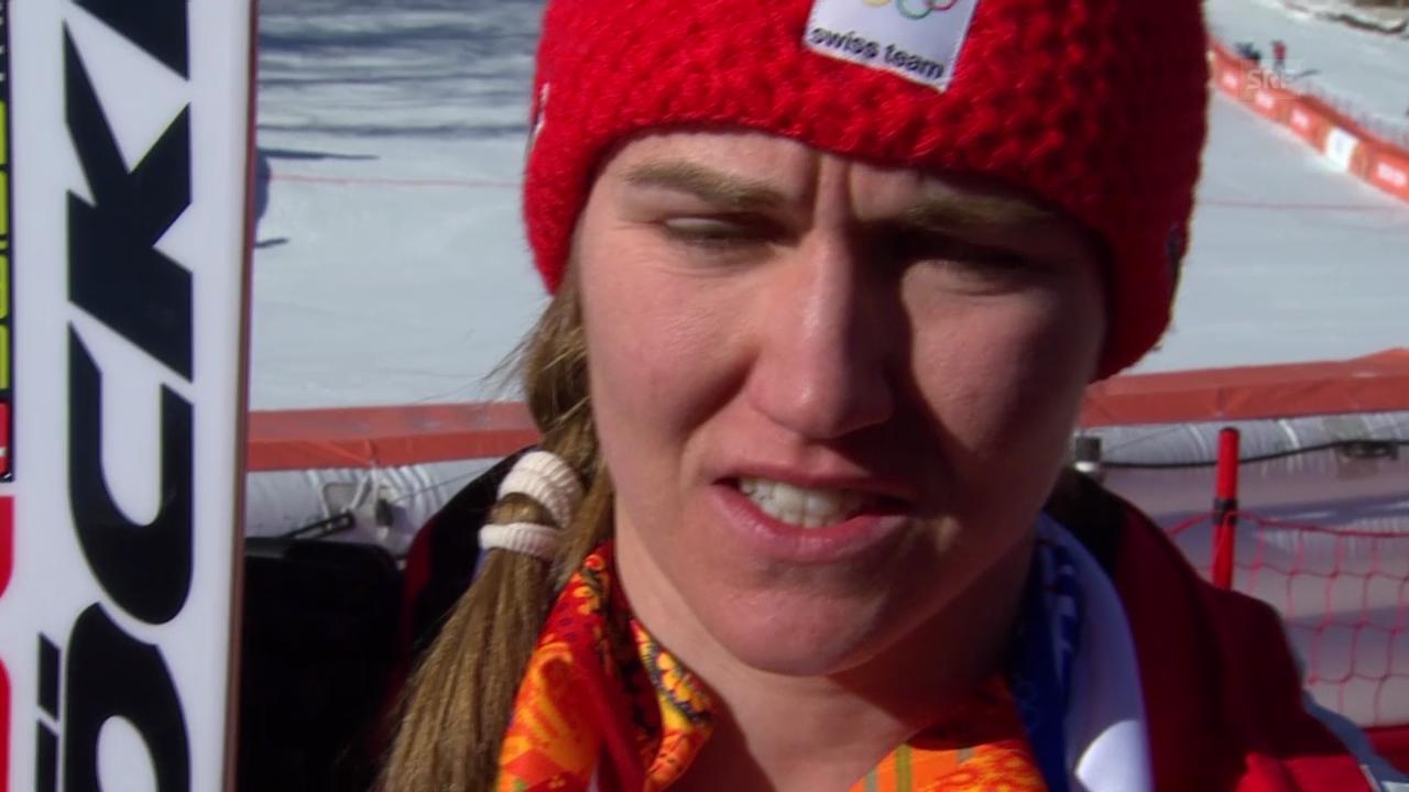 Ski: Abfahrt der Frauen, Interview mit Fabienne Suter (sotschi direkt, 12.02.2014)