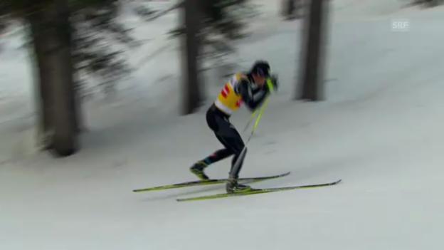 Video «Langlauf: Männer-Rennen in Davos («sportpanorama»)» abspielen