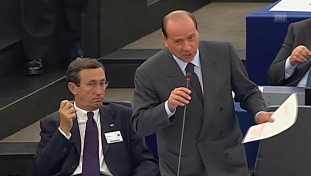 Video «Berlusconi beschimpft Schulz» abspielen