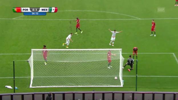 Video «Die Tore von Portugal-Mexiko» abspielen