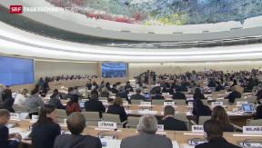 Video «UNO-Menschenrechtsrat tagt in Genf » abspielen