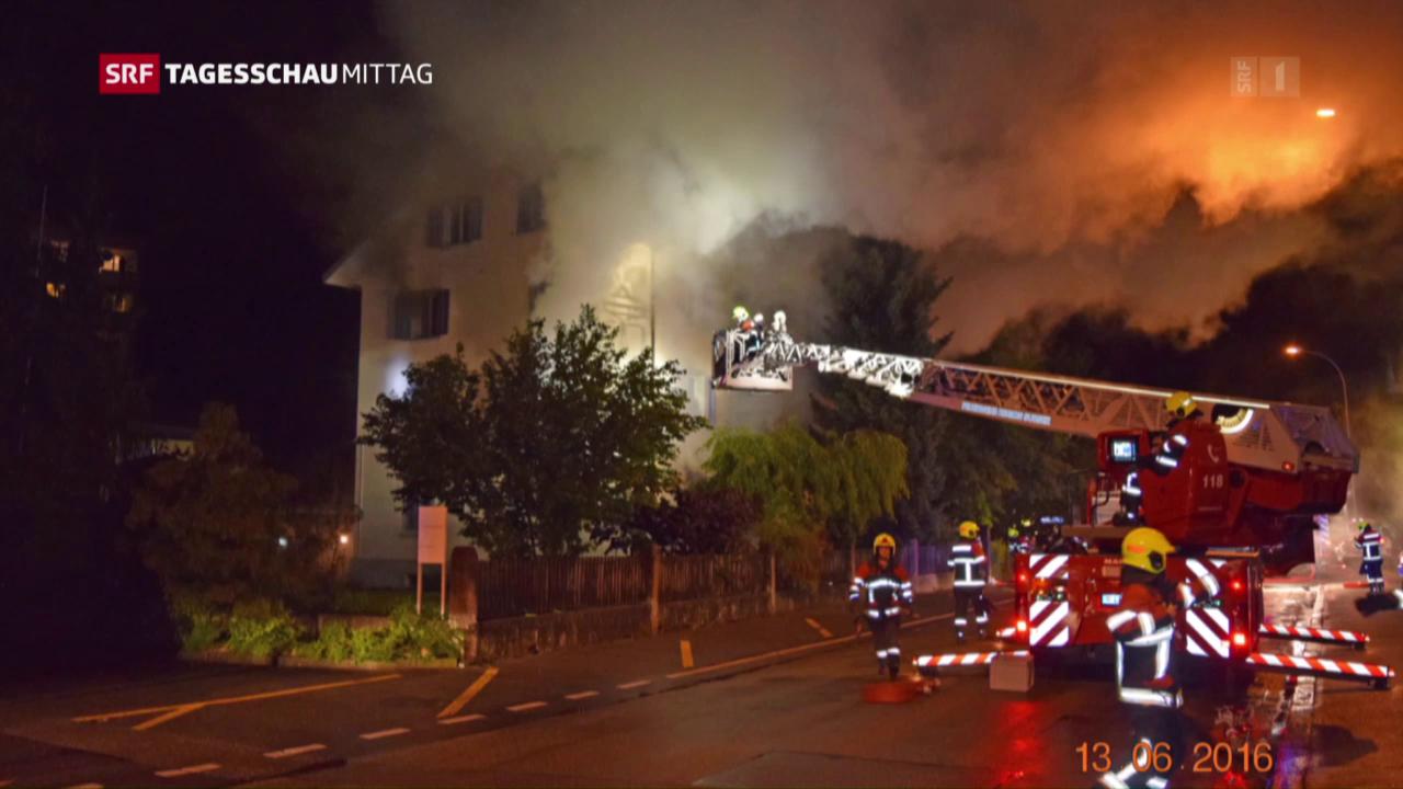 Zwei Todesopfer nach Hausbrand in Sursee