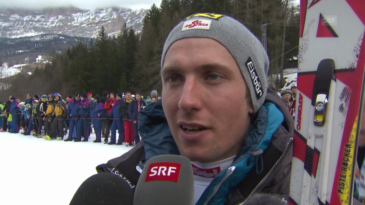 Ski Alpin: Abfahrt Männer in Alta Badia, Interview mit Hirscher («sportlive», 22.12.2013)