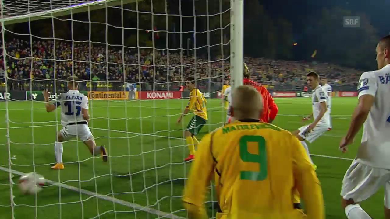 Fussball: Zusammenfassung Litauen - Estland