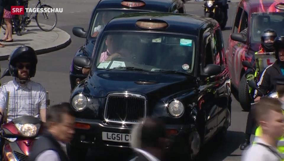 Protest der Londoner Taxifahrer