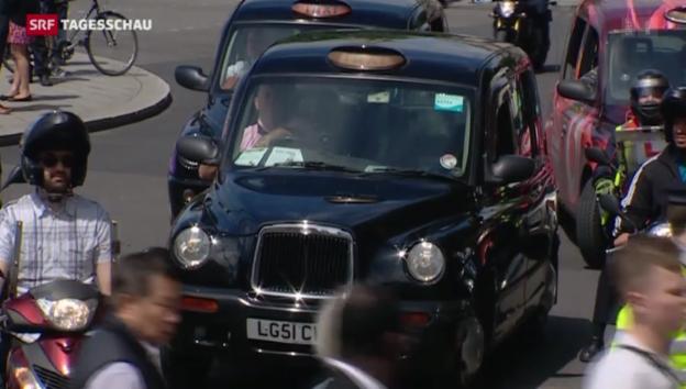 Video «Protest der Londoner Taxifahrer» abspielen