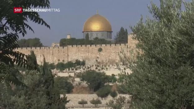 Video «Angespannte Situation in Jerusalem» abspielen