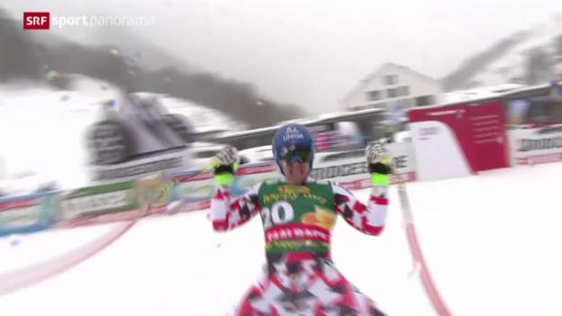 Video «Ski alpin: Super-G der Männer in Saalbach» abspielen