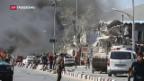 Video «Folgenschwerer Selbstmordanschlag in Kabul» abspielen