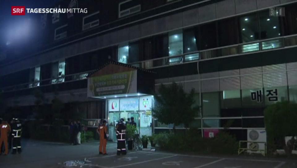 Patienten sterben bei Altersheim-Brand