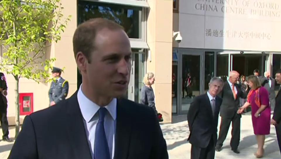 Prinz William über seine schwangere Kate