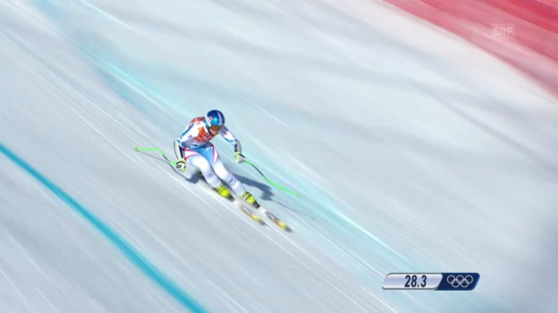 Video «Ski Alpin: Super-G Sotschi, Fahrt Nicole Hosp (sotschi direkt, 15.02.2014)» abspielen