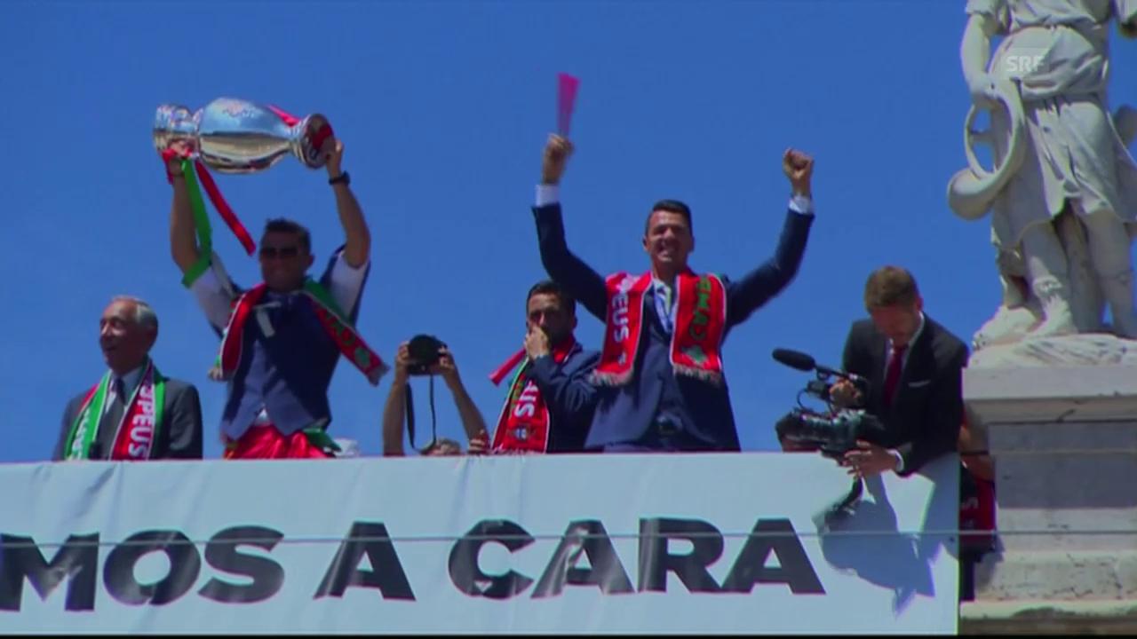 Der grosse Moment: Feiern mit den Fans (Quelle: RTP)